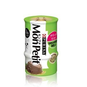 モンプチ缶 3P テリーヌ仕立て なめらか舌平目 海老入り 85g×3P|dogparadise