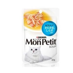 モンプチ スープ まぐろスープ かにかま、しらす入り 40g|dogparadise