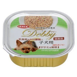 デビフ dbf デビィ 子犬用(ササミ&野菜) 100g(トレイ/ドッグフード)(10%OFFクーポン配布中)|dogparadise