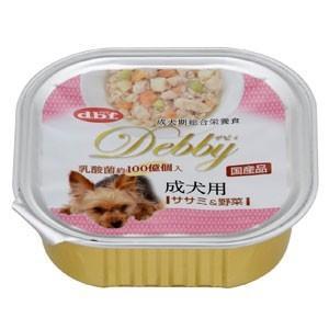 デビフ dbf デビィ 成犬用(ササミ&野菜) 100g(トレイ/ドッグフード)(10%OFFクーポン配布中)|dogparadise