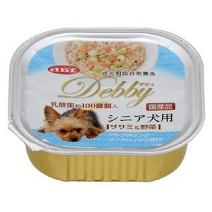 デビフ dbf デビィ シニア犬用(ササミ&野菜) 100g(トレイ/ドッグフード)(10%OFFクーポン配布中)|dogparadise