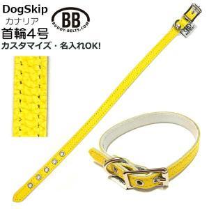 犬用 オールレザー首輪 4号 カナリア Canary BB BUDDYBELT バディーベルト ペット ドッグ 本革 バディーベルト正規輸入代理店 正|dogskip