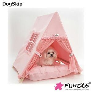 犬用 猫用 ローズべべテント ファンドル屋根付きベッド カドラー 小型犬 FUNDLE RoseBebe tent|dogskip