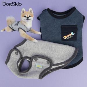 犬用 スナップラウンドTシャツ:S,M,Lサイズ 洋服 小型犬 犬 ペット ドッグ|dogskip