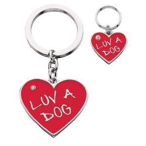 犬グッズ ドッグタグ&キーホルダー Luv A Dog ペアチャーム 輸入雑貨 リトルギフト/LittleGifts dogstreasure