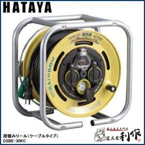 ハタヤ 段積みリール(ケーブルタイプ) [ DSBE-30KC ]  漏電遮断器付(温度センサー付)|doguya-risaku
