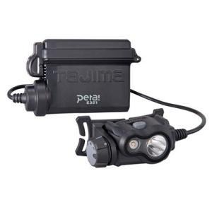 タジマ ペタLEDヘッドライトE351セット ブラック [ LE-E351-SPBK ]|doguya-risaku