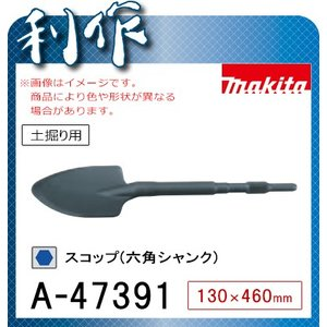 マキタ スコップ(六角シャンク) [ A-47391 ] 130×460mm / 土掘り用|doguya-risaku