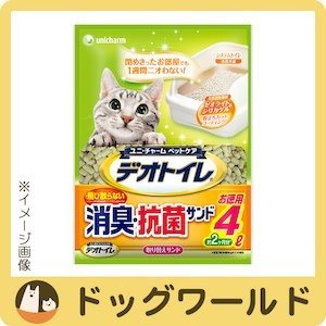 ユニチャーム 1週間消臭・抗菌デオトイレ 飛び散らない消臭・抗菌サンド 4L (0568) 【猫砂】