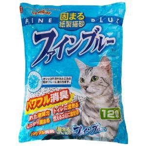 常陸化工 ファインブルー 12L×5袋 [猫砂セット販売] [同梱不可] [送料無料]|ドッグワールド