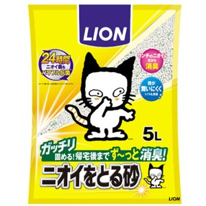 SALE ライオン 猫砂 ペットキレイ ニオイをとる砂 5L [1250] 【猫砂】