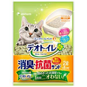 ユニチャーム 1週間消臭・抗菌デオトイレ 飛び散らない消臭・抗菌サンド 2L (6700) 【猫砂】