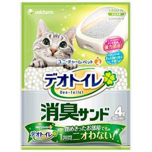 ユニチャーム 1週間消臭・抗菌デオトイレ 取りかえ専用 消臭サンド 4L (3375) 【猫砂】