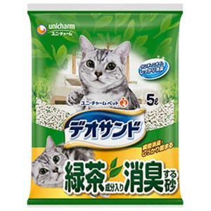 ユニチャーム デオサンド 緑茶成分入り消臭する砂 5L×4袋 [猫砂セット販売] [同梱不可] [送料無料]|ドッグワールド