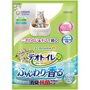 デオトイレ ふんわり香る消臭・抗菌サンド ナチュラルグリーンの香り 3.8L 【猫砂】 【ユニチャーム】