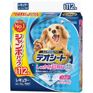 デオシート しっかり超吸収 無香消臭タイプ JP レギュラー 112枚 【ユニ・チャーム】