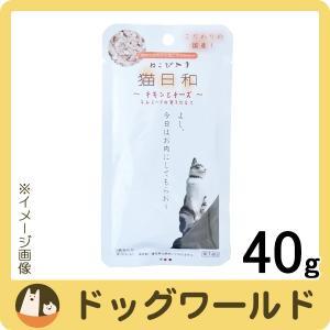 【訳あり価格】わんわん 猫日和 レトルト チキンとチーズ 40g【賞味:2018/11/5】