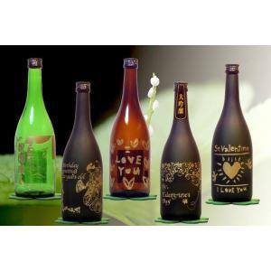 地酒を使った焼酎ボトル彫刻 黒大豆焼酎 讃州黒|doikoubou|04