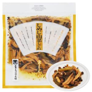 しめじと山蕗(やまふき)などの山菜を昆布とあわせ、淡口醤油で味わい深い佃煮に仕上げました。食卓の一品...