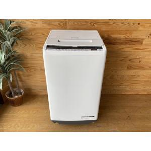 【中古】◎HITACHI/日立/全自動洗濯機/BW-V70E(W)/7.0kg/ビートウォッシュ/ホ...