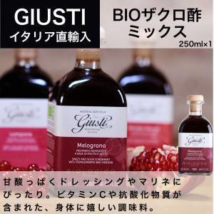 BIO ミックス ジュゼッペ ジュスティ(GIUSEPPE GIUSTI)ザクロ酢 ミックス 250ml イタリア直輸入 dolcevita-kagurazaka
