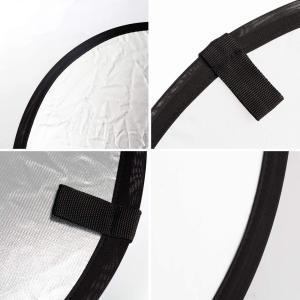 TARION 撮影用 丸レフ板 直径60cm 折りたたみ可能 銀&白 拭き布付き|dole-store