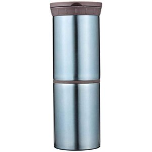 丸辰(Marutatsu) 缶・ペットボトル を 保冷 保温 真空二層 ステンレスポット ブルー (500ml缶・Petボトル・350ml缶|dole-store