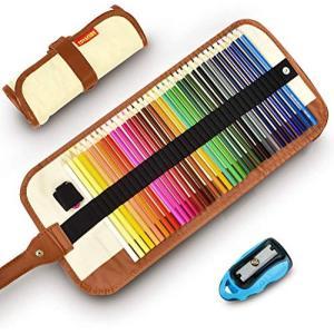 色鉛筆 36色画材セット COVACURE 塗り絵 プレゼント用 子供、学生、大人向け 学校教材用 野外写生 室内絵作り 鉛筆削り、収納ケー dole-store