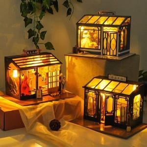 CuteBee DIYドールハウス、Sakura kimono、和風、手作りキットセット、付属LED...