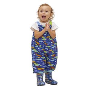 小川(Ogawa) キッズプレイウェア 90cm クッカヒッポ おさかな お砂場着 汚れにくい 裾にゴム付き はっ水 バック型収納袋付 83|dole-store