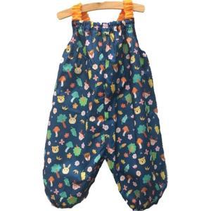 marle pawda子ども用 プレイウェア (お砂場着) 日本製 レインウェア にも 収納袋付き 森の動物ギフト お祝い 入園 公園などの|dole-store