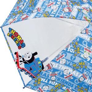 ジェイズプランニング キッズ傘 きかんしゃトーマス ロゴボーダー ブルー 50cm 70064|dole-store