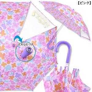 キッズ傘L ピンクCol:06子供用傘「プチアンジェリーナ 水彩フラワー柄カサ 55cm-ピンク」雨具 キッズ用 ジュニア用 かさ カサ レ|dole-store