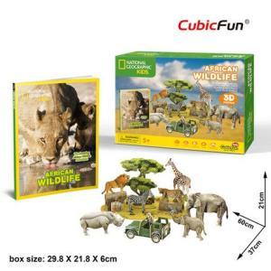 3D立体パズル ナショナル ジオグラフィック ★ アフリカン ワンダフル (アフリカの野生生物)|doll-kamisugiya