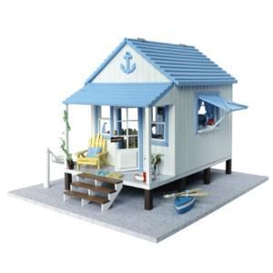 ミニチュアドールハウス 海岸沿いの別荘 お洒落お家|doll-kamisugiya