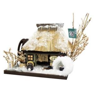 ビリーの手作りドールハウスキット 居酒屋 茅葺屋根 子供 夏休み工作キット ミニチュア doll-kamisugiya