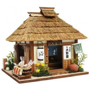 ビリーの手作りドールハウスキット 大内宿のそば屋 子供 夏休み工作キット ミニチュア|doll-kamisugiya