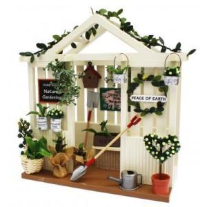 ビリーの手作りドールハウスキット ガーデンハウスキット 子供 夏休み工作キット ミニチュア doll-kamisugiya