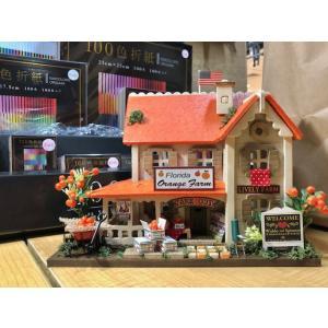 ビリーの手作りドールハウスキット オレンジファーム 子供 夏休み工作キット ミニチュア doll-kamisugiya