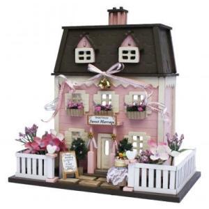 ビリーの手作りドールハウスキット ウェディングハウス 子供 夏休み工作キット ミニチュア doll-kamisugiya