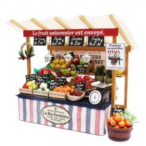 ビリーの手作りドールハウスキット パリの果物屋さん 工作キット ミニチュア doll-kamisugiya