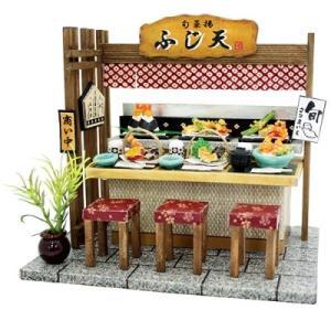 ビリーの手作りドールハウスキット 天ぷら屋 子供 夏休み工作キット ミニチュア|doll-kamisugiya
