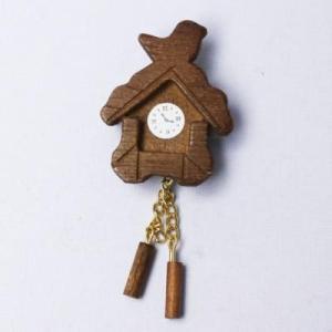 ミニチュア 鳩時計 茶色|doll-kamisugiya