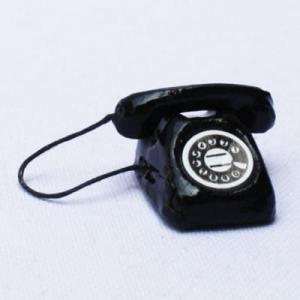 ミニチュア 黒電話|doll-kamisugiya