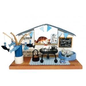 にゃんこのミニチュアライフコレクション カフェタイム ねこ 夏休みの宿題 工作 自由研究 初級 ビリー|doll-kamisugiya
