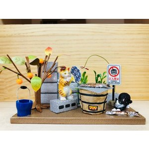 にゃんこのミニチュアライフコレクション  ごちそうタイム ねこ 夏休みの宿題 工作 自由研究 初級 ビリー 新作|doll-kamisugiya|02