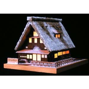 あかりシリーズ 雪の合掌造り ウッディジョー 木製ミニ建築 キット|doll-kamisugiya