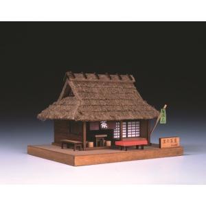 里の茶店 ウッディジョー 木製ミニ建築 キット|doll-kamisugiya