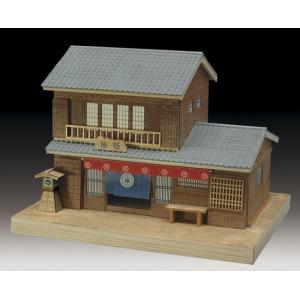 旅籠 ウッディジョー 木製ミニ建築 キット|doll-kamisugiya