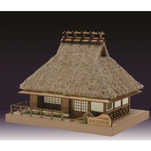 茅葺きの家 ウッディジョー 木製ミニ建築 キット|doll-kamisugiya
